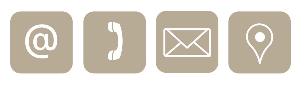 Possibilité de contact, mail, tel et courrier